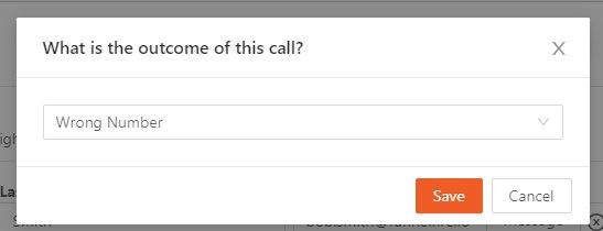 Call outcome