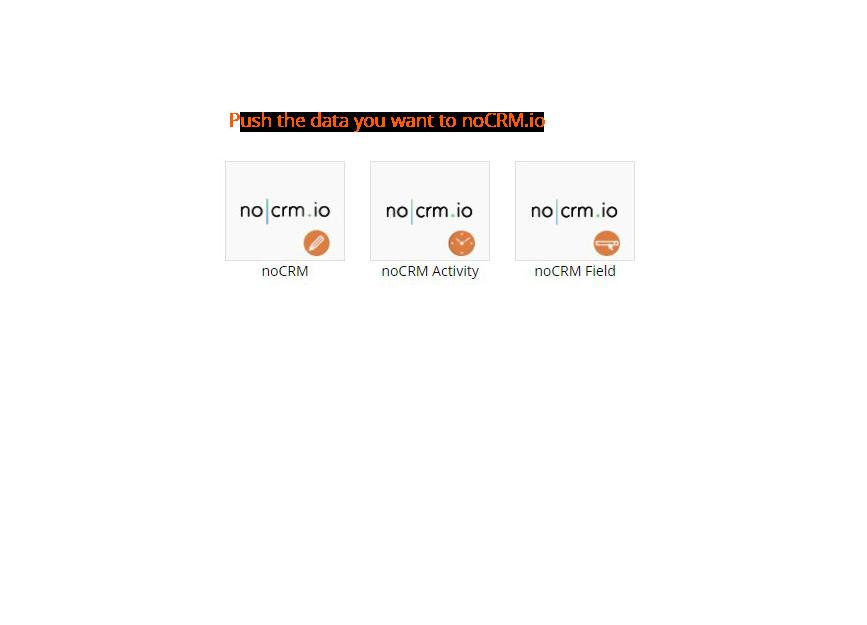 nocrm integration action items